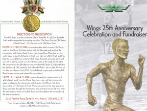 25th Invitation - Front&Directions