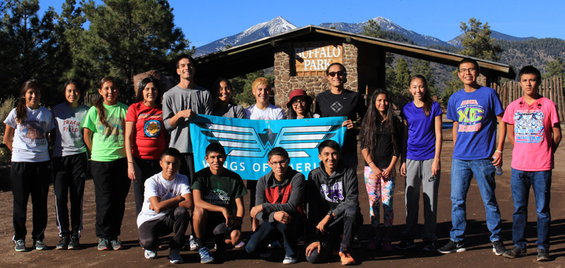 "National Team hopefuls pose at Buffalo Park in Flagstaff, AZ after their ""shakeout run"" on the way to Casa Grande to compete in the NXR Southwest Regional Meet."