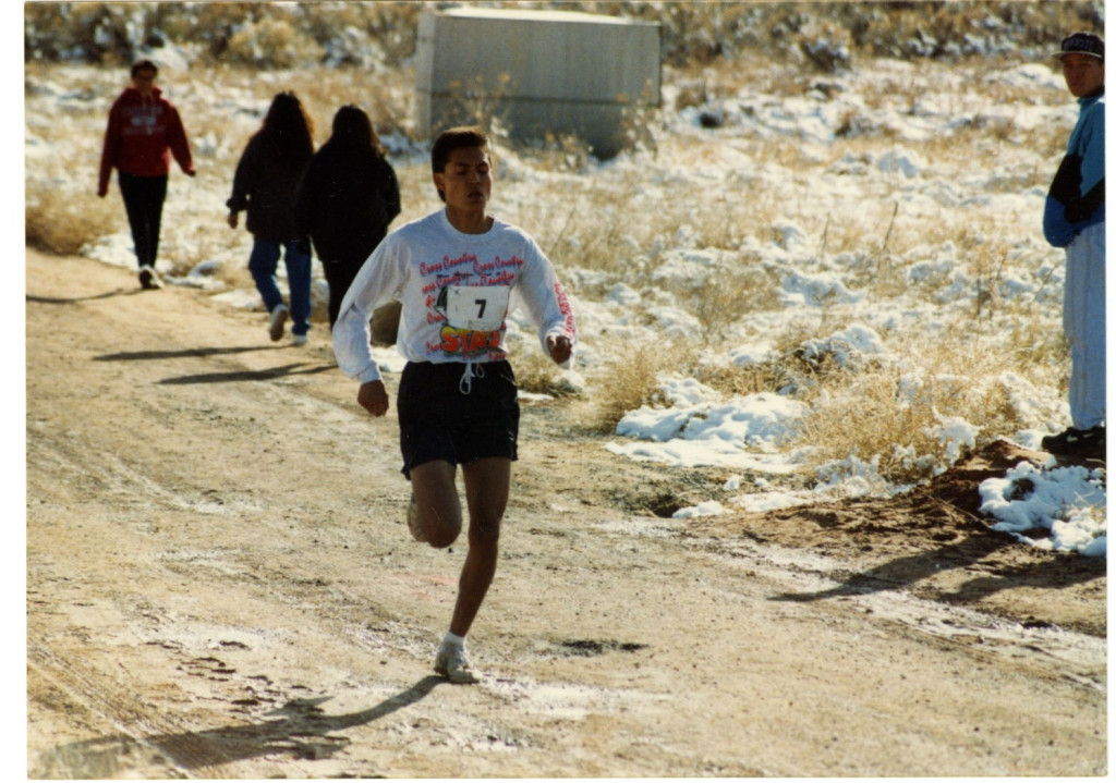 "A photo from our archives of a runner at an ""old school"" Wings selection race. Anyone know who/when this was? Please email program director, Dustin Martin, at dustin@wingsofamerica.org"