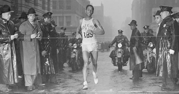 Tarzan Brown Winning the 1939 Boston Marathon