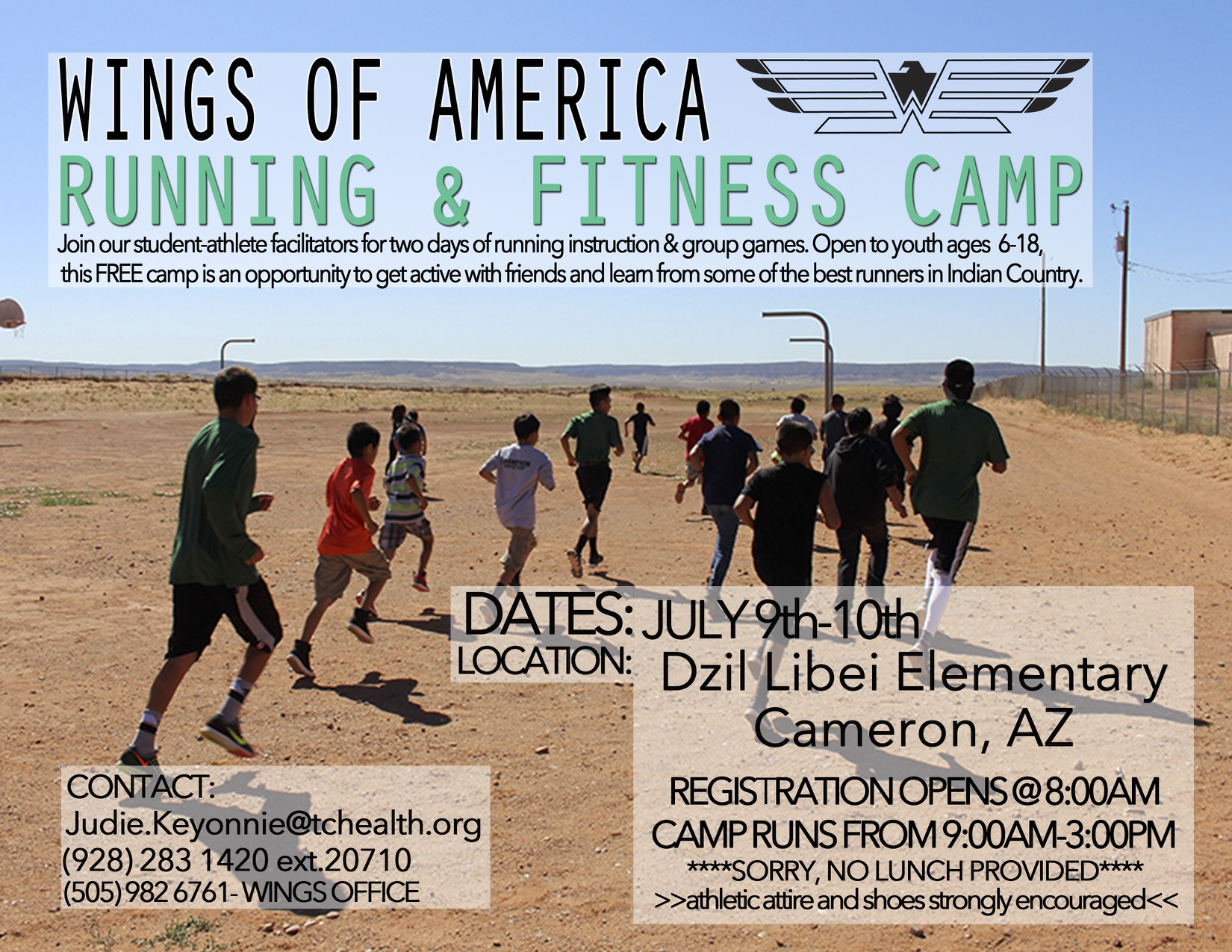Running and Fitness Camp Cameron, AZ @ Dzil Libei Elementary School