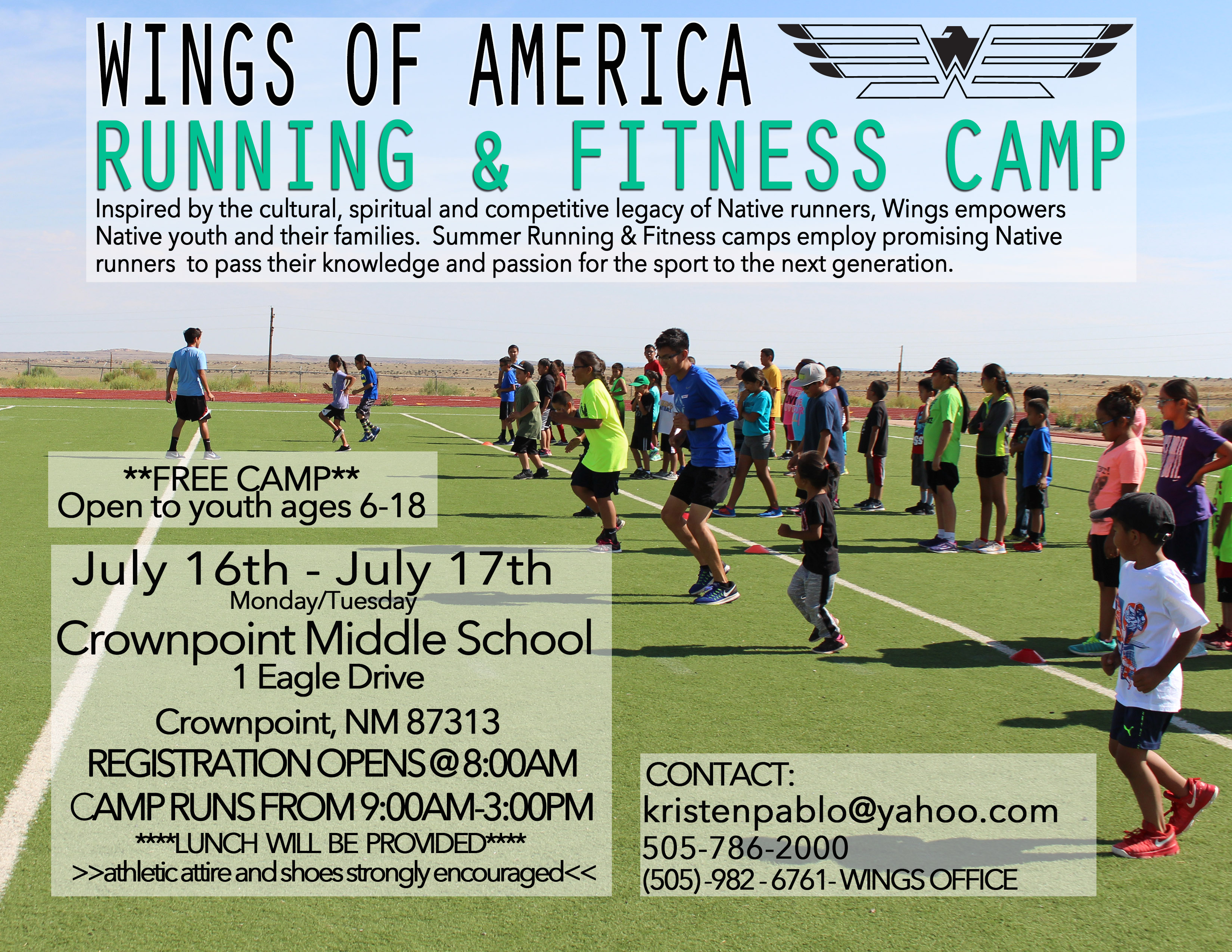 Running and Fitness Camp Crownpoint, NM @ Crown Point Middle School  | Crownpoint | New Mexico | United States