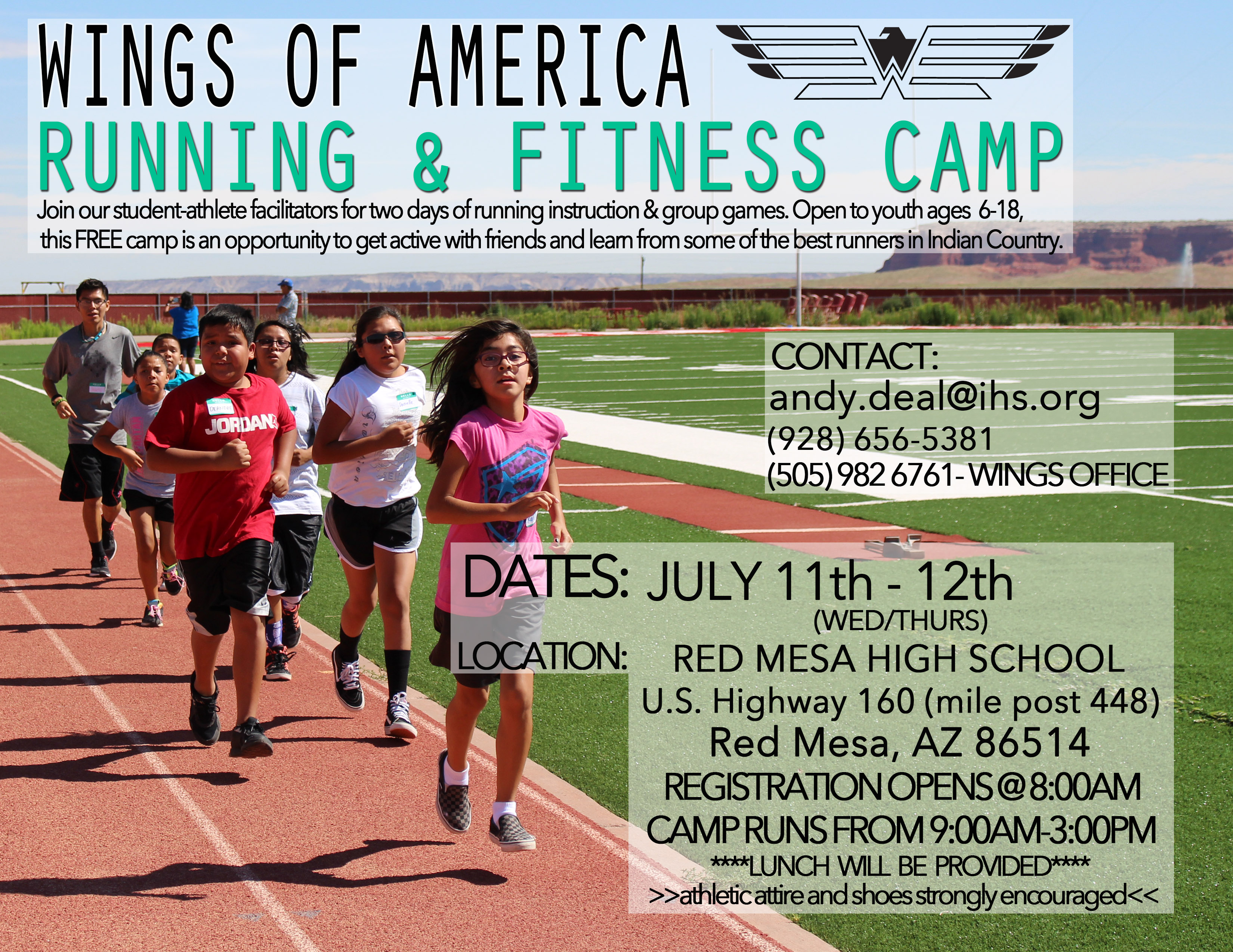 Running and Fitness Camp Red Mesa, AZ @ Red Meda High School